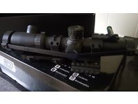 NcSTAR 30mm Cantilevered SPR 1.1-4x24/DOT Scope & Mount New NOT USED