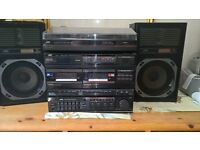 JVC double tape deck, turntable & Radio (only turntable working but could fix)