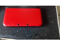 NINTENDO 3DS XL IN RED AND BLACK,FULL WORKING ORDER,