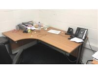 Office corner desks and storage cupboard for sale immediately! LOW COST!