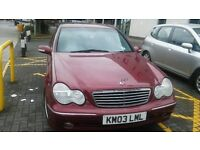 MERCEDES C CLASS C180 KOMPRESSOR AVANTGRADE 2003 , 1 YEAR MOT , 4 GOOD TYRES , PERFECT CAR