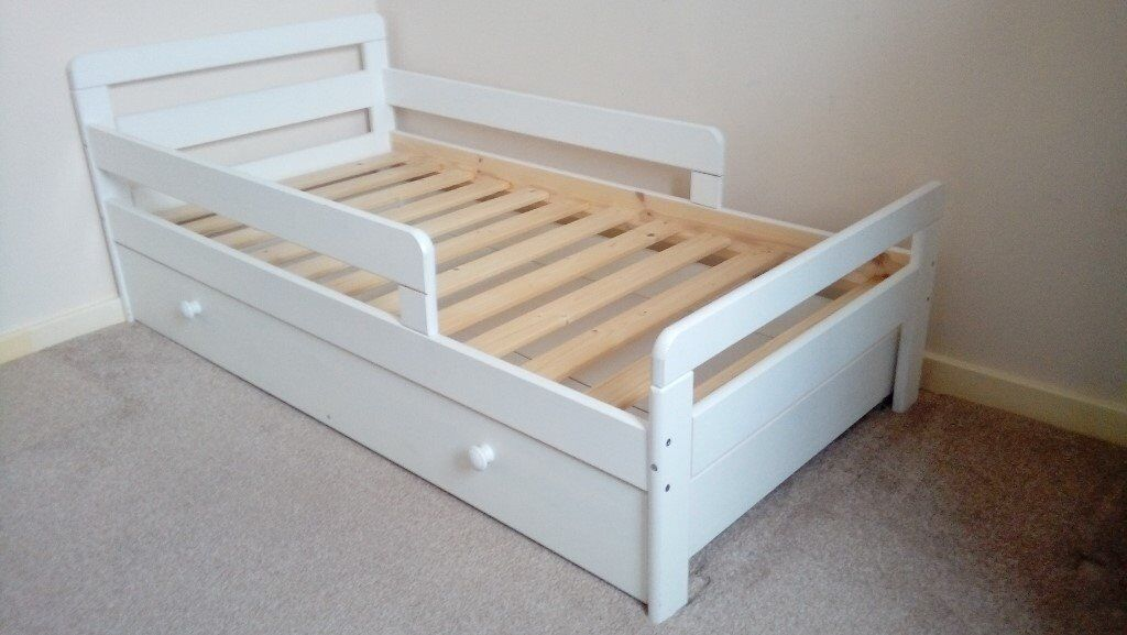 White Toddler Bed With Storage Drawer In Belper Derbyshire Gumtree