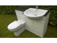 Kohler WC and Vanity Unit, including sink, waste, tap, concealed toilet cistern and soft close lid