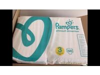 Pampers Premium Protection Size 3 - 136 nappies - £10