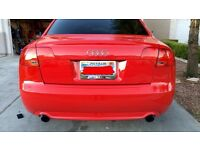 genuine 2004-2008 Audi a4 s line rear tailgate in factory red