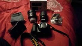 As new !! Nikon d3300 plus extras .. Macro lens .. T Piece .. Wireless shutter