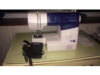 Hardly used AEG sewing machine. Comes with instructions