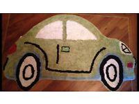 Green Car Rug