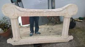 marble over-mantle mirror