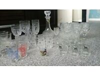 lead crystal decanter and glasses
