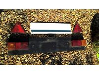 FOR SALE - TRAILER PARTS - tailboard, tow hook, reflectors and numberplate holder