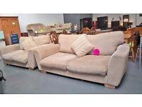 cream fabric sofas 3&2 suite bargain for 130