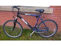"Mens 21""Raleigh 18 speed airlite all terain series mountain bike"