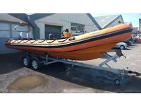 Humber 6.5m Rib Twin Mariner Outboards