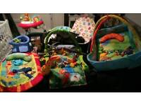 Baby toys, walker, chair, bath seat, carrier, breast pumps