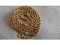 9ct 375 gold hallmark Rope chain.