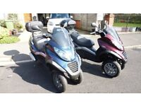 vespa Piaggio mp3 250 2010 scooter 3 wheeled trike like fuoco yourban metropolis