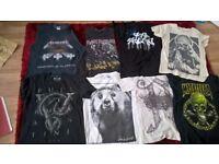 Band T Shirts Job Lot (Metal/Rare) Good for Christmas