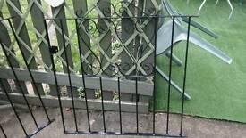 2 Single Wrought Iron Gates