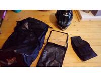 Nolan Italian motorbike helmet, waterproof bag, waterproof map bag, kidney belt for motorcycling