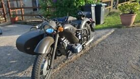 DENEPR 650 MT-10 WITH SIDECAR 1978 IN ARMY GREEN STARTS FIRST KICK NEW TYRES