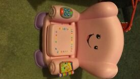 Fisher-price laugh and learn pink activity chair