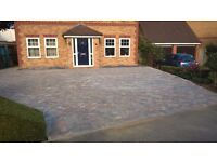 digger and driver block paving fencing footings all groundwork undertaken