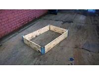 square raised planter box