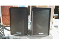 DJ speakers and amp / soundlab