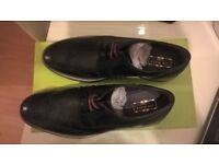 Ted Baker Black Leather Men Archerr 2 Brogues Size 8UK 42EU