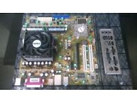job lot foxconn winfast ck804k8ma AMD socket 939 motherboard + cpu, cooler, ram and io plate bundle