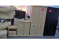 stunning design bedroom set,wardrobe,large chest and smaller chest