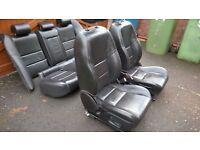 jaguar s type black leather seats