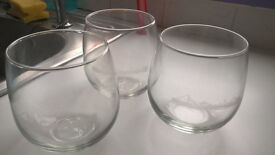 3 x Heavy quality Brandy Glasses