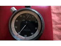 vintage omega flyback + split functions rattrapante hand race rally stop watch perfect working order