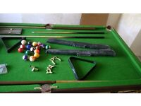 8ball pool and snooker table with extras