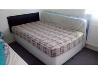 Double bed base with 4 drawers+mattress