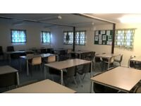 Free tables and chairs from community centre