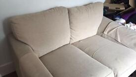 Cream Material Double Sofa