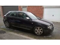 Audi S3 2002 8L 225bhp High spec black on black heated leather cruise full MOT as of today