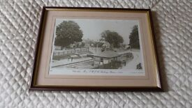 Old Swindon, Wroughton and Chiseldon Pictures Circa 1914 to 1880 - set of 6 - Framed