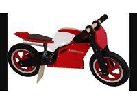 Kiddimoto Superbike balance bike (brand new unused)