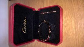 Cartier love bangle,reproduction, screw love bangle,size 16,