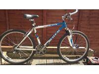 Trek 810 Mountain bike light weight frame, front suspension, suspension seat. Totally solid bike.