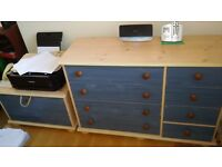 Chest of drawers and matching storage box