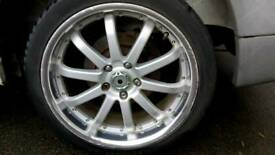 18 inch deep dish alloy wheels with 225/40ZR18 tyres - Mercedes Vito