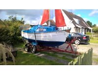 SAIL BOAT SEA SAFE DANDY FOR QUICK SALE £1800. GREAT BUY.