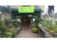 Plant Area Assistant needed for North London Garden Centre