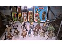 STAR WARS VINTAGE FIGURES & COLLECTIONS WANTED. CASH PAID, WILL TRAVEL!