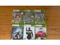Xbox 360 Elite 120GB Console + 6 games and 3 wireless Controller